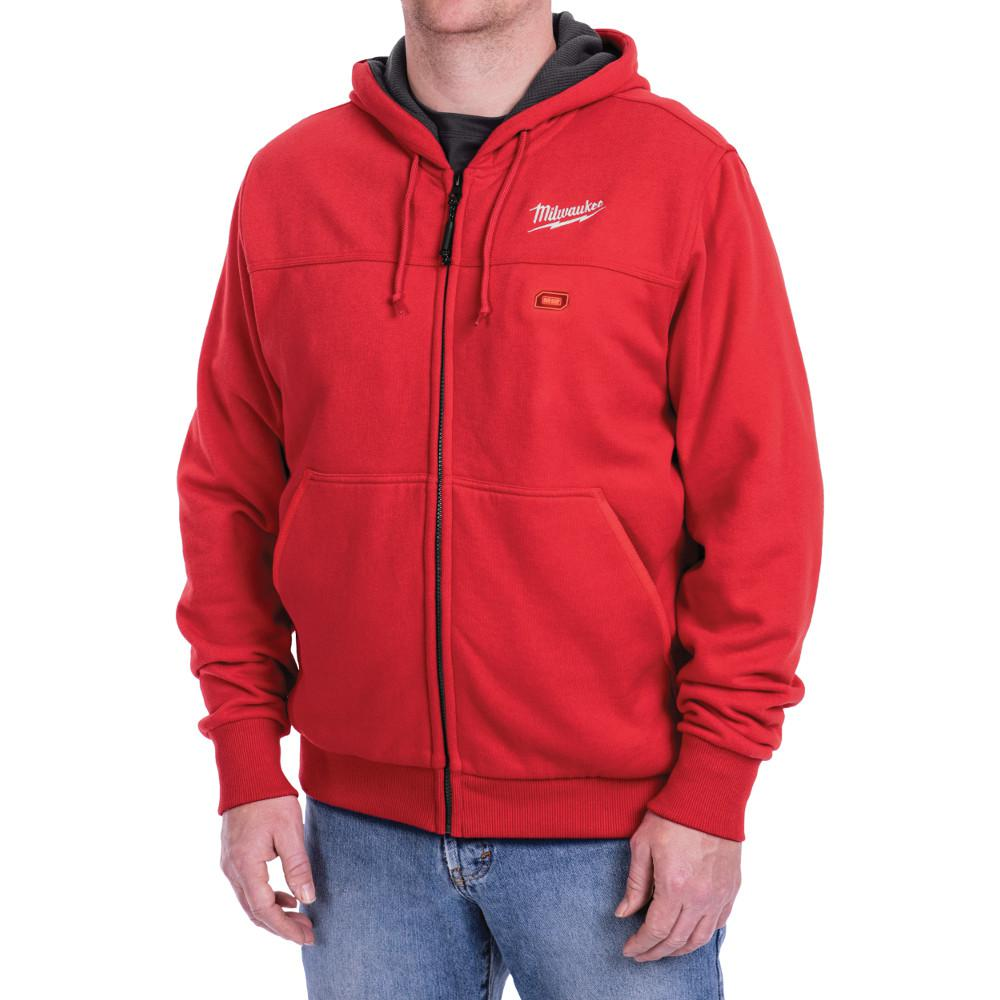 M12 12-Volt Lithium-Ion Cordless Red Heated Hoodie (Hoodie-Only) - 2XL
