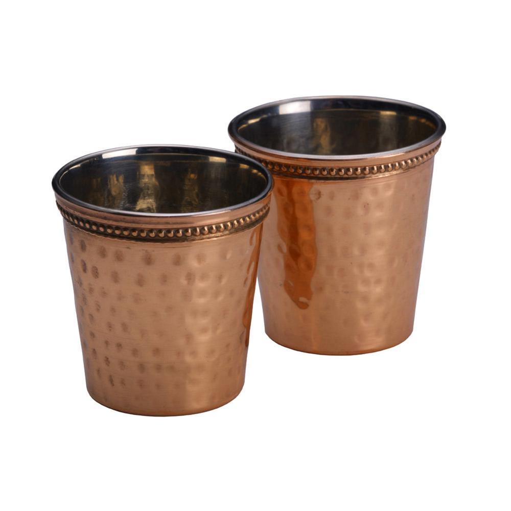 Hammered Copper Shot Glasses (Set of 2)