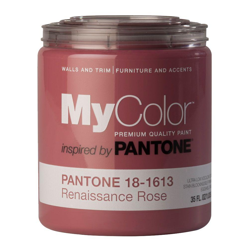MyColor inspired by PANTONE 18-1613 Eggshell 35-oz. Renaissance Rose Self Priming Paint-DISCONTINUED