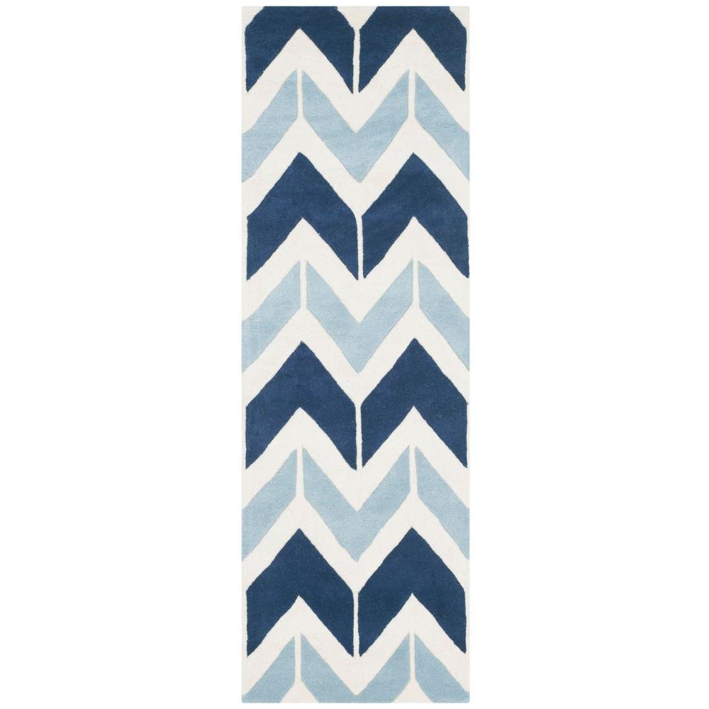 Safavieh Chatham Dark Blue/Light Blue 2 ft. 3 in. x 7 ft. Runner