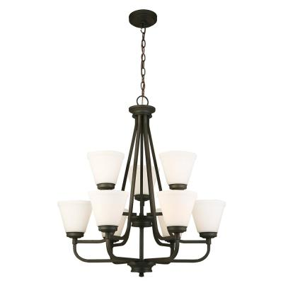 Mayview 9-Light Matte Bronze Chandelier