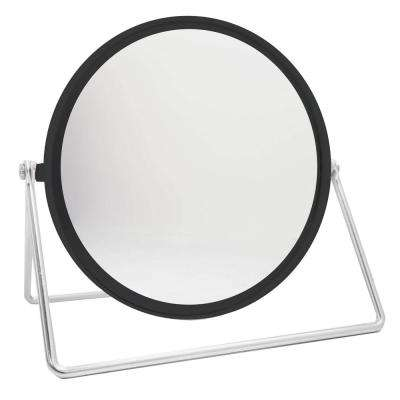 4.54 in. x 6.63 in. Cosmetic Mirror with Sleek Stand in Black