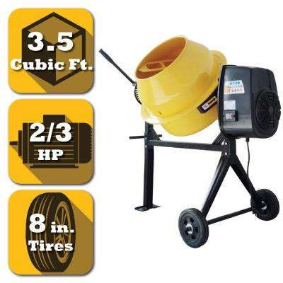 3.5 cu. ft. 2/3 HP Contractor Duty Cement and Concrete Mixer