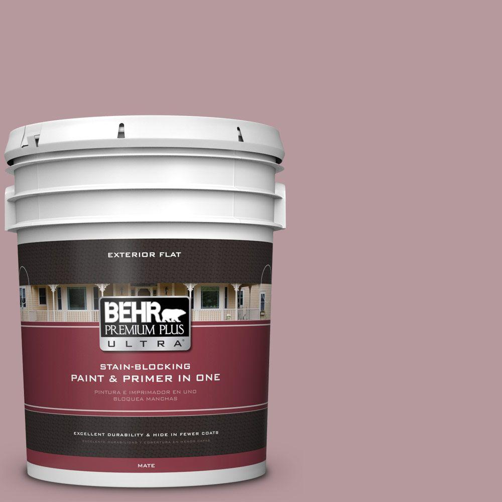 BEHR Premium Plus Ultra 5-gal. #PMD-71 Twilight Blush Flat Exterior Paint