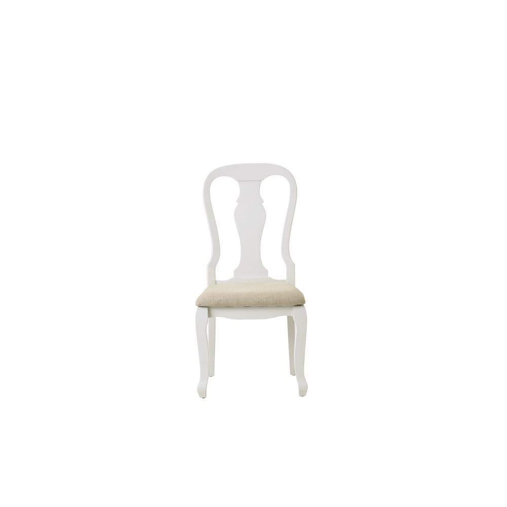 Fritz Ivory Dining Chairs with Cushion (Set of 2)