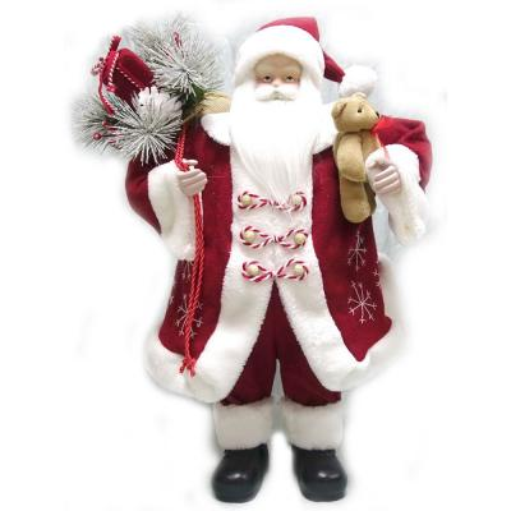 24 in. Fabric Santa