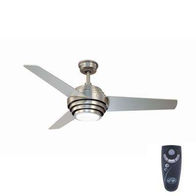 Vasner 52 in. Indoor Colonial Pewter Ceiling Fan with Light Kit and Remote Control