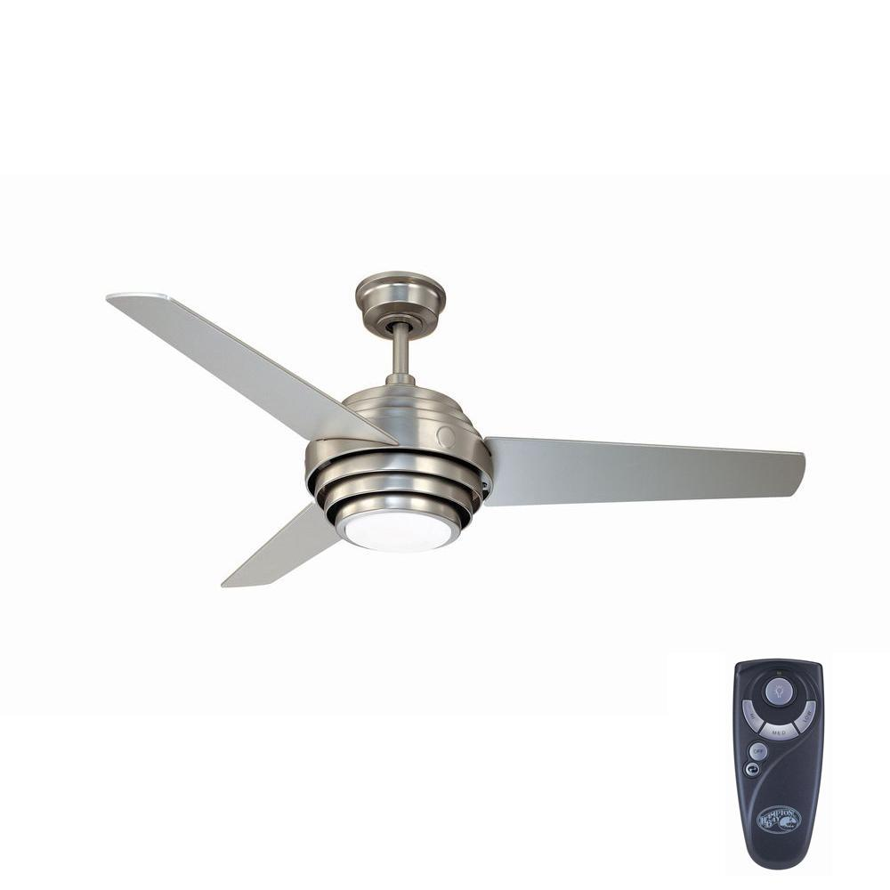 Indoor Colonial Pewter Ceiling Fan With Light Kit And Remote Control Ac387 Clp The Home Depot