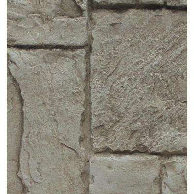 Faux Windsor Stone 24-3/4 in. x 48-3/4 in. x 1-1/4 in. Panel Cliff Gray