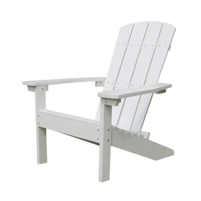 Lakeside White Plastic Adirondack Chair (1-Pack)