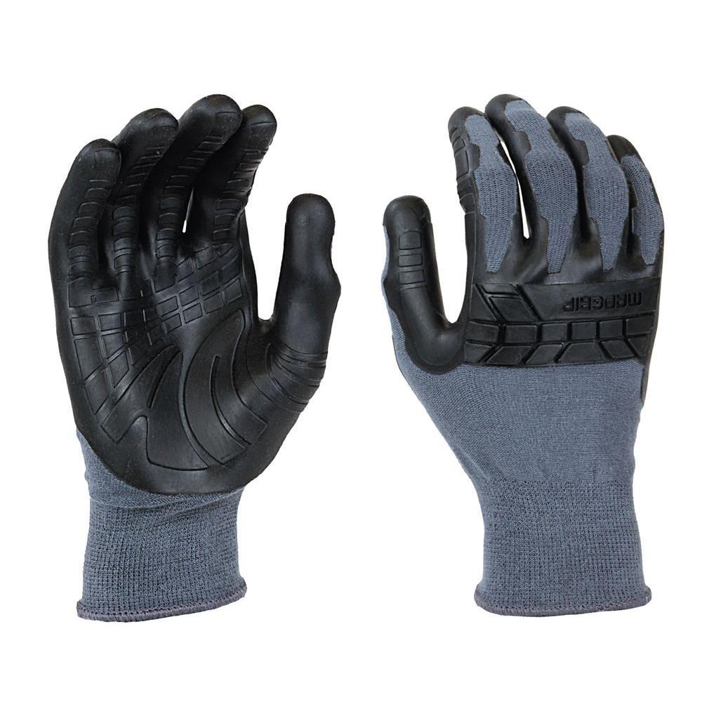 Pro Palm Plus Large Grey/Black Glove