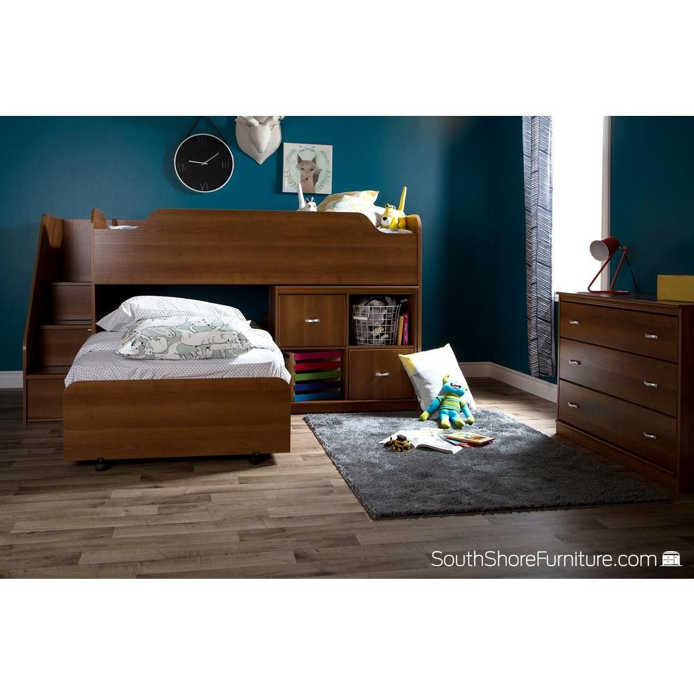 South Shore Mobby Morgan Cherry Twin Size Loft Bed 9055087 The