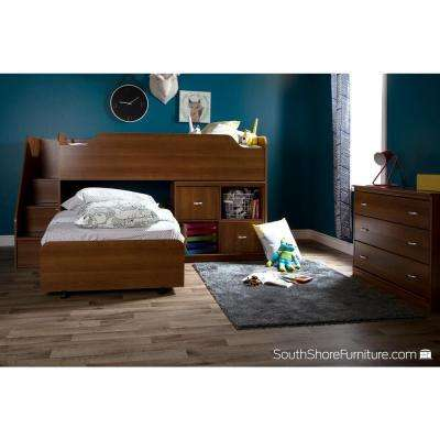 Mobby Morgan Cherry Twin-Size Loft Bed