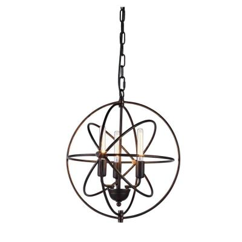 Vienna 3-Light Dark Bronze Pendant Lamp