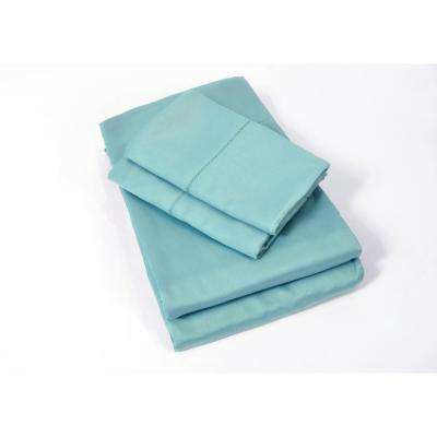100% Rayon from Bamboo Sea Glass Queen Sheet Set