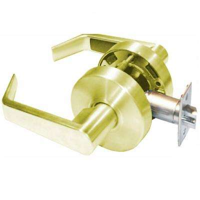 Saturn Series Grade 2 Hall/Closet Passage Cylindrical Door Lever Set in Bright Brass