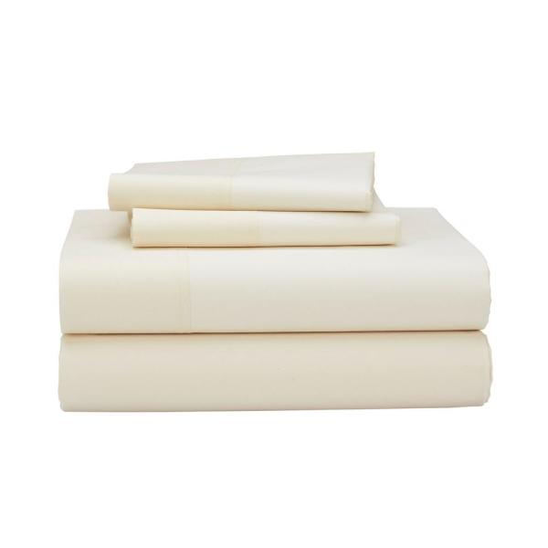 The Company 4 Piece 400 Thread Count Supima Cotton Percale King Extra Deep