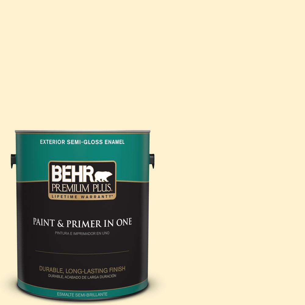 1-gal. #380C-2 Desert Lily Semi-Gloss Enamel Exterior Paint
