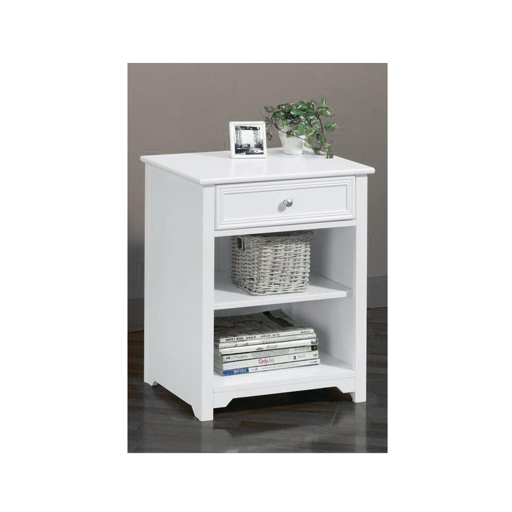 Home Decorators Oxford White Drawer End Table Product Photo