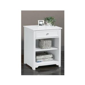 HOME DECORATORS COLLECTION Oxford White 1-Drawer End Table by HOME DECORATORS COLLECTION