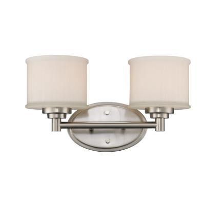Cahill 2-Light Brushed Nickel Bath Light