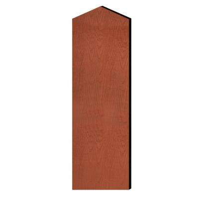 Laminate Double End Side Panel with Sloping Hood for 72 in. H x 21 in. D Designer Wood Locker in Cherry