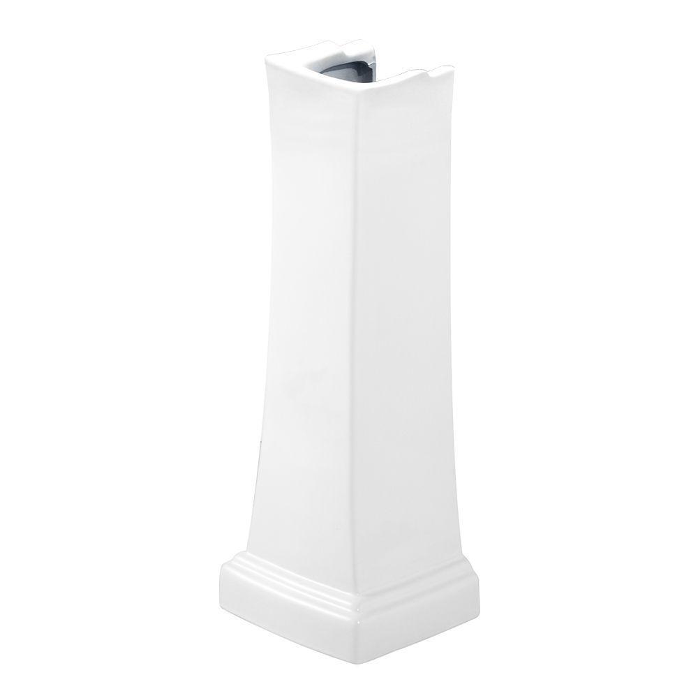 Layton Pedestal in White