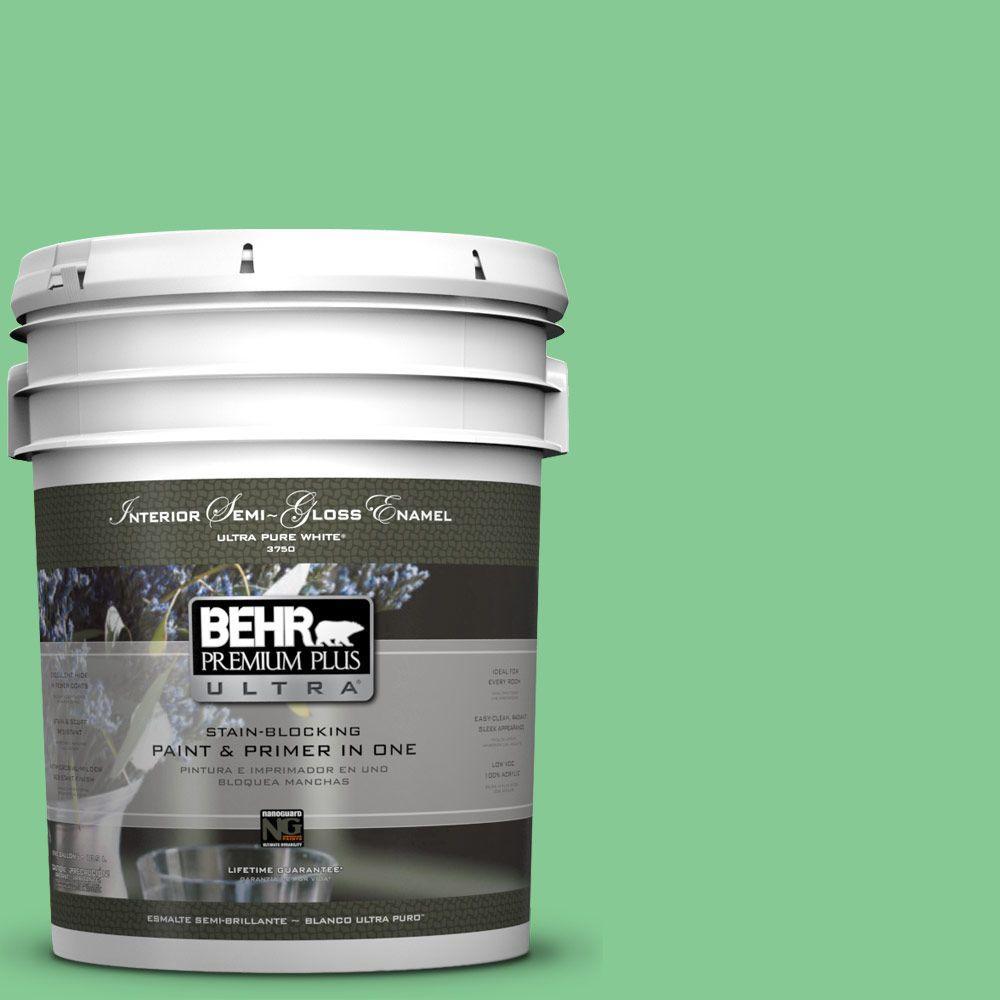 BEHR Premium Plus Ultra 5-gal. #P400-4 Good Luck Semi-Gloss Enamel Interior Paint