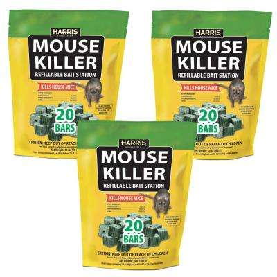 Mouse Killer Bars with Refill Bait Station (60-Pack)