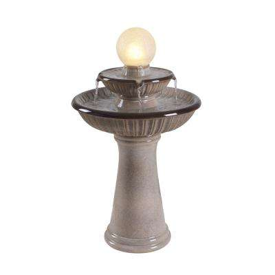 Kingley Ceramic Tiered Birdbath