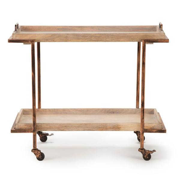 7726fe5e042b Conway Serving Cart - Mango and Copper with Casters