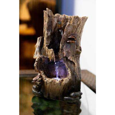 12 in. Rainforest Tree Trunk Tabletop Fountain