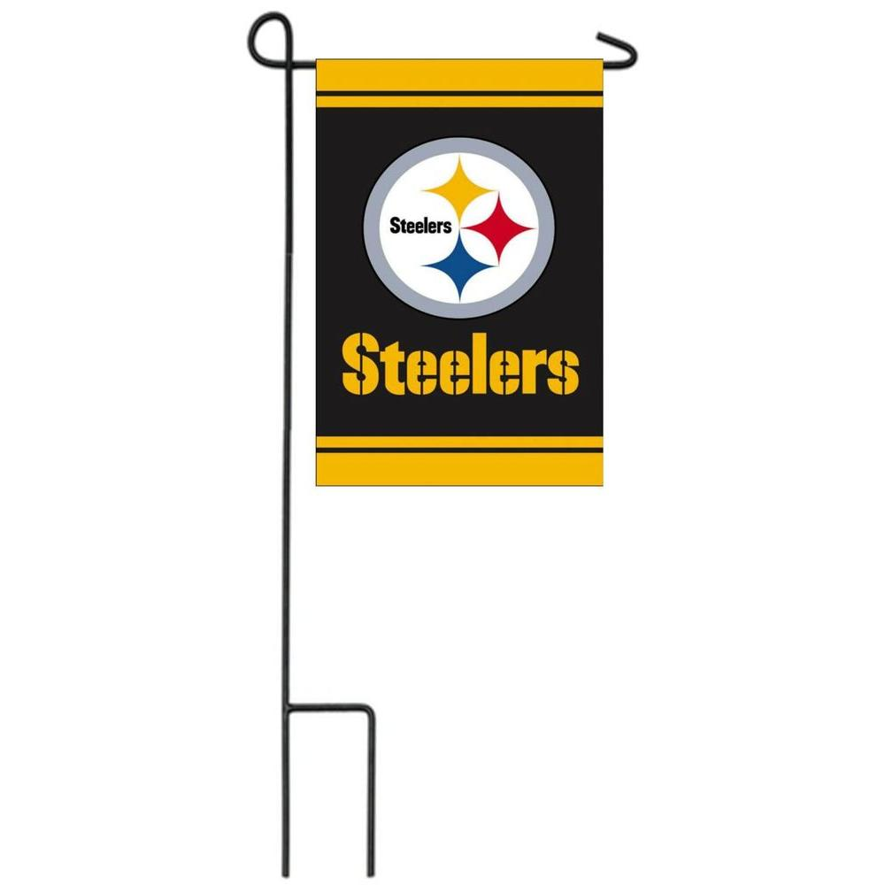 garden flag stand. Evergreen Enterprises NFL 18 In. X 12.5 Pittsburgh Steelers 2-Sided Fiber Garden Flag Stand