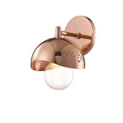 Heidi 1-Light Polished Copper Wall Sconce