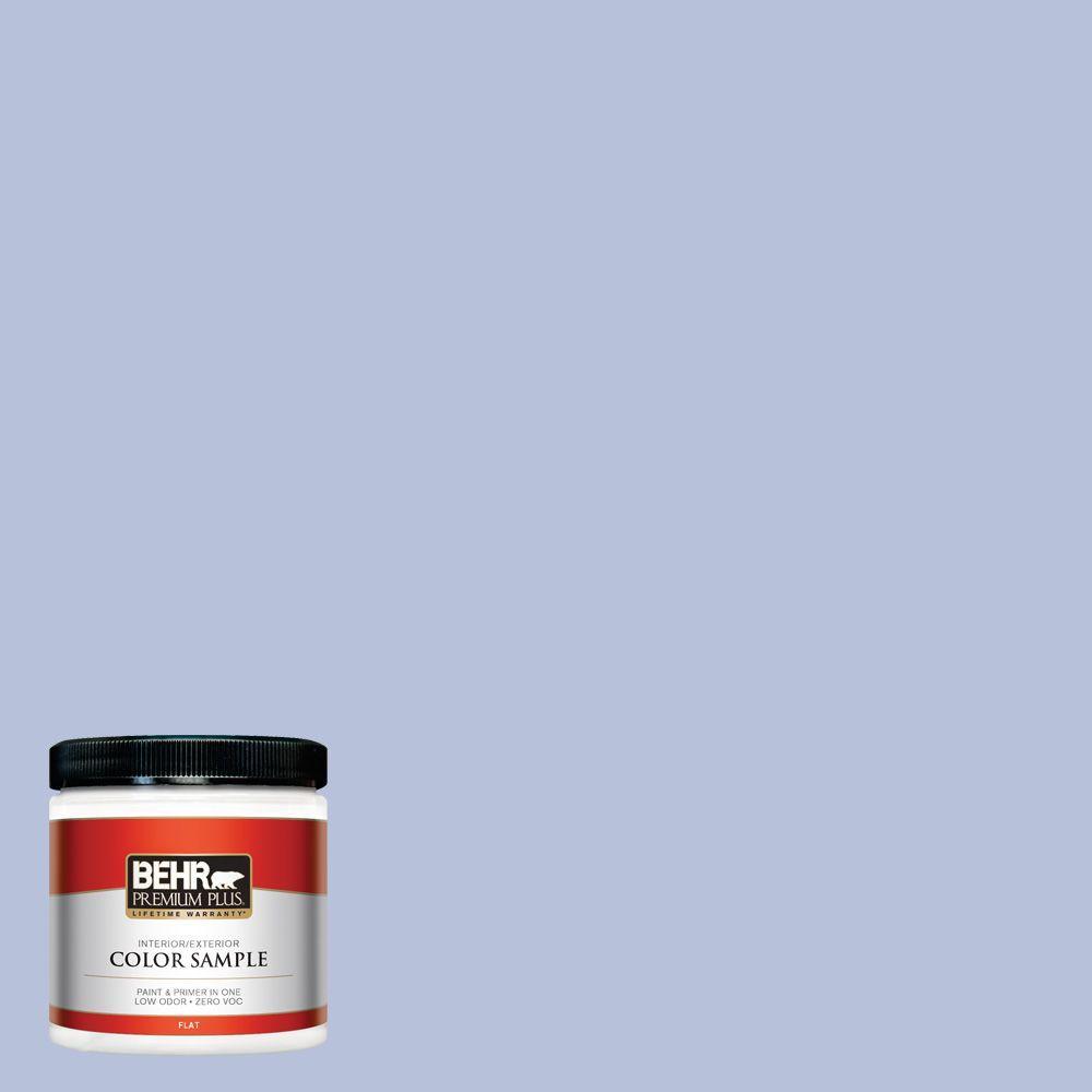 BEHR Premium Plus 8 oz. #610C-3 Virginia Blue Interior/Exterior Paint Sample