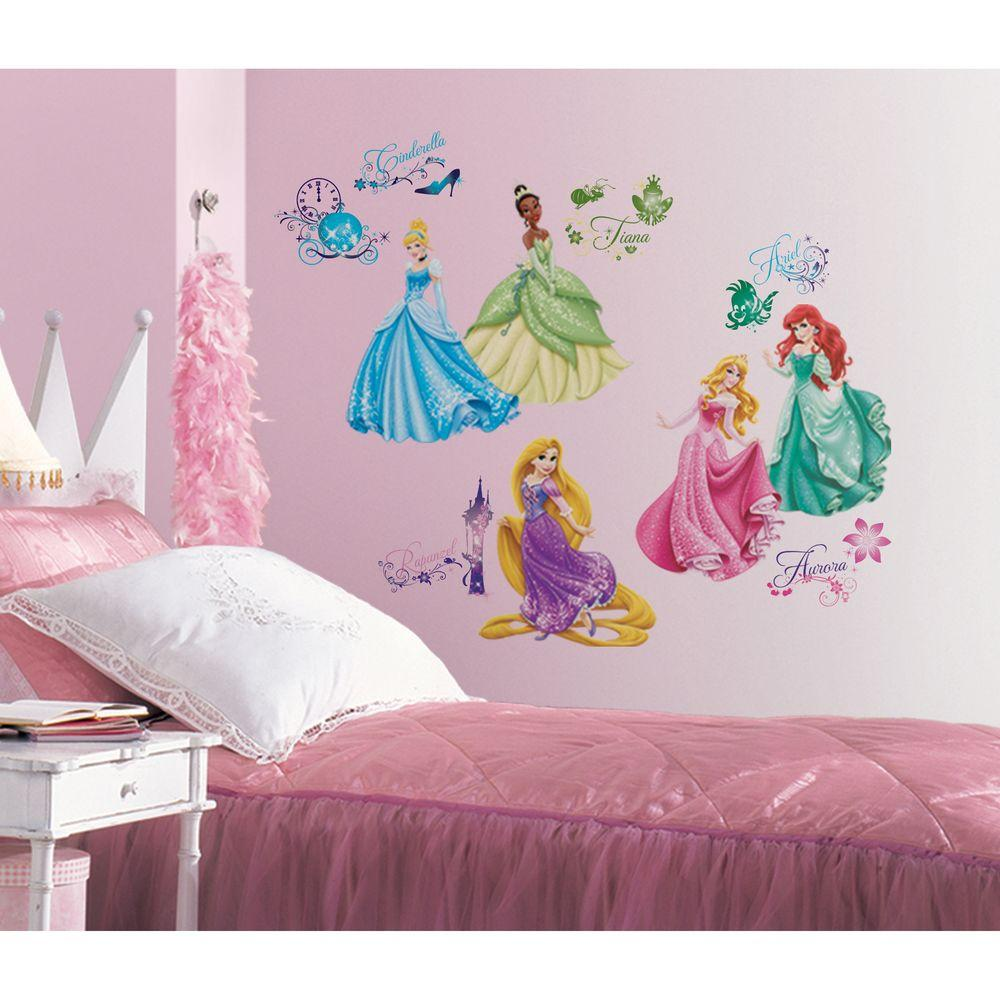 Wall Decals Bedroom | Roommates Disney Princess Royal Debut Peel And Stick 37 Piece Wall