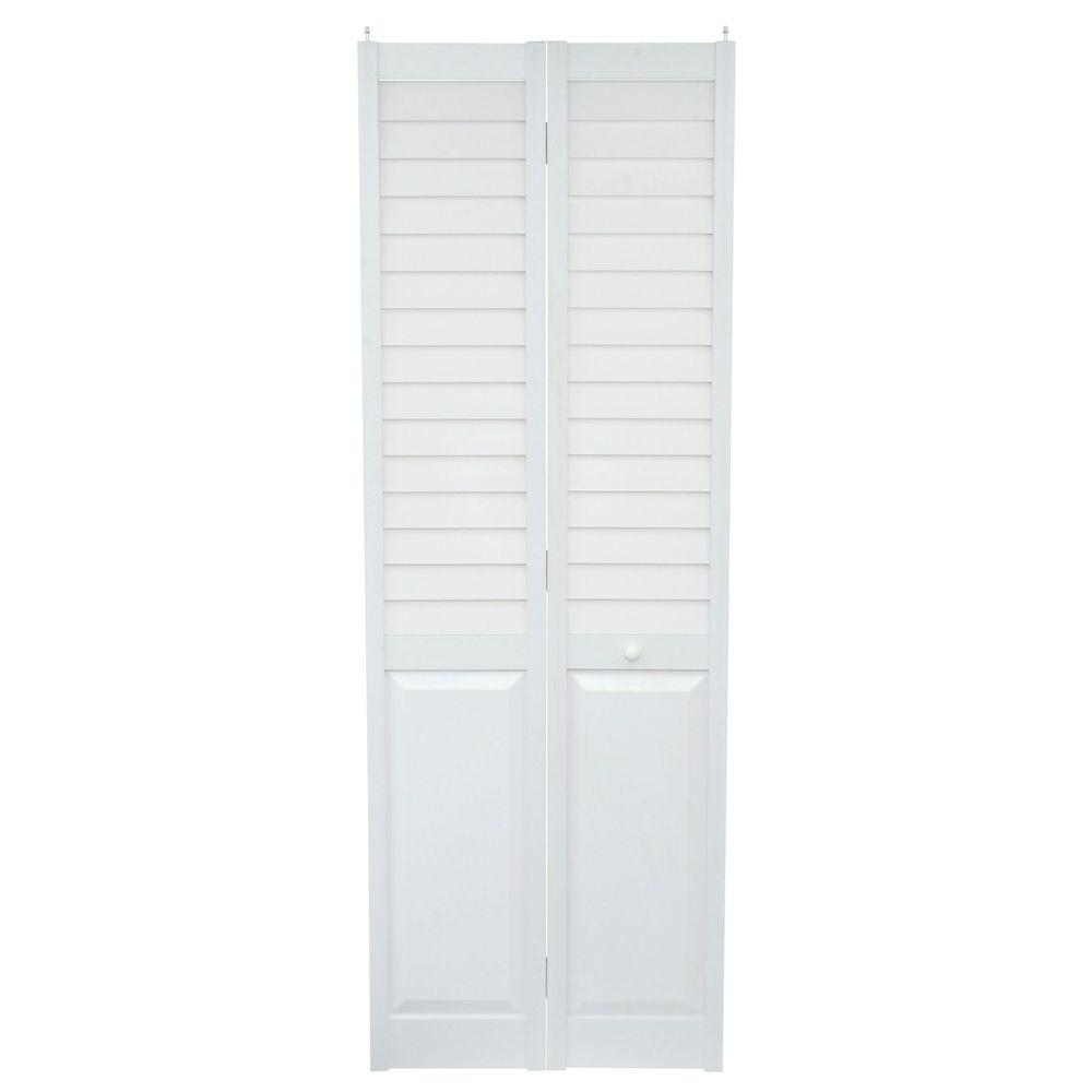 Home Fashion Technologies 28 In X 80 In Louver Panel White PVC