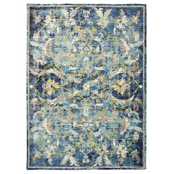 Lr Resources Gala Navy Multi 8 Ft X 10 Ft Indoor Area Rug Galac81273nam80a0 The Home Depot