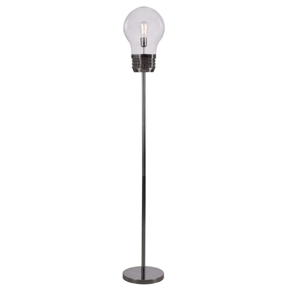 Octavia Floor Lamp Brass: Titan Lighting 60 In. Antique Brass Floor Lamp With Clear