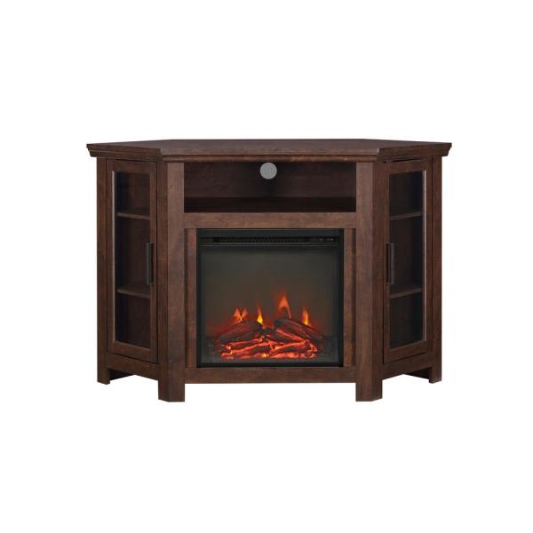 Awe Inspiring Walker Edison Furniture Company Traditional Brown Fireplace Interior Design Ideas Grebswwsoteloinfo