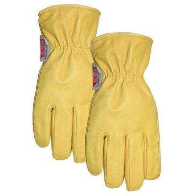 Men's Large Thermalock Lined Top Grain Performance Leather Gloves 2-Pair Pack