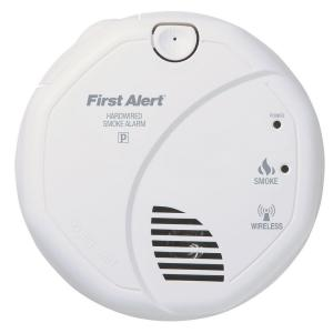 120volt ac wireless smoke detector with sensor first alert - First Alert Smoke Detector