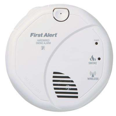 120-Volt AC Wireless Smoke Detector with Photo-Electric Sensor