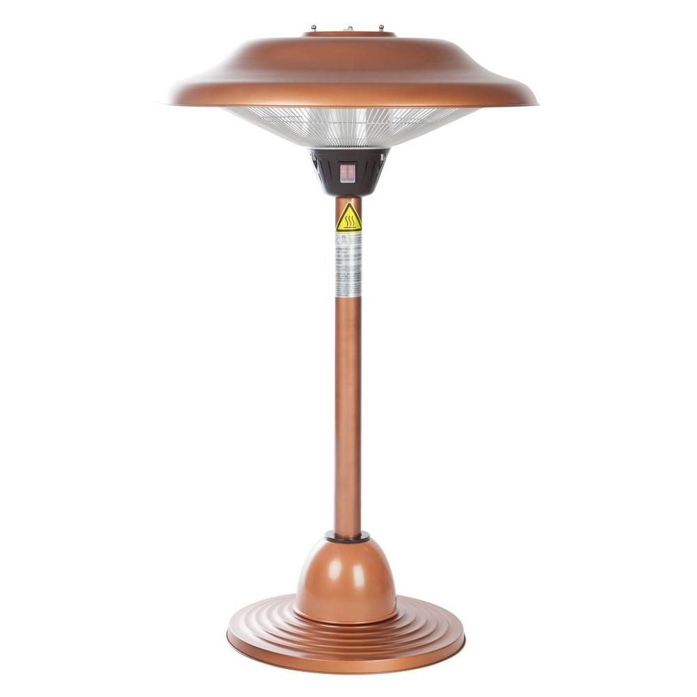 Fire Sense 1,500-Watt Copper Tabletop Halogen Electric Patio Heater