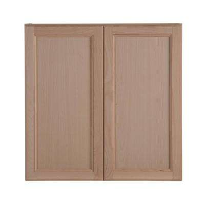 Assembled 30x30x12 in. Easthaven Wall Cabinet in Unfinished German Beech