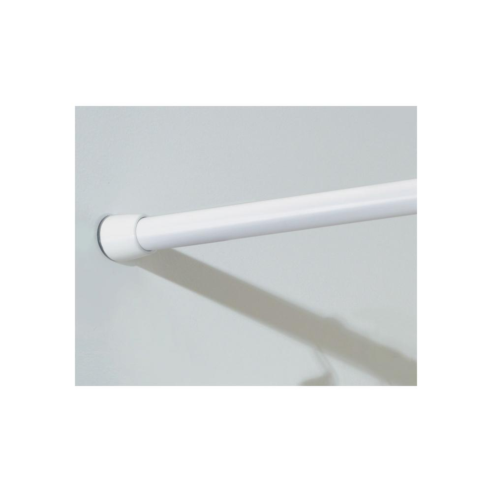 Interdesign Curved Shower Curtain Rod.Interdesign 43 75 In Shower Curtain Tension Rod Medium 78597dh