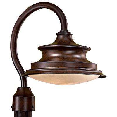 Vanira Place 1-Light Windsor Rust Outdoor Post Mount