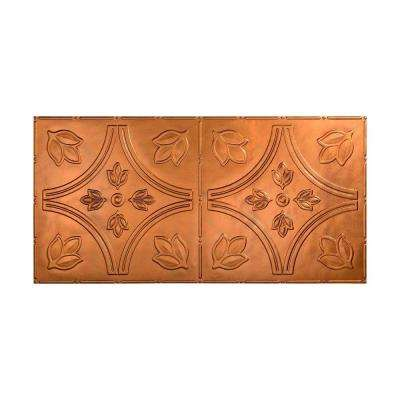 Traditional 5 - 2 ft. x 4 ft. Glue-up Ceiling Tile in Antique Bronze