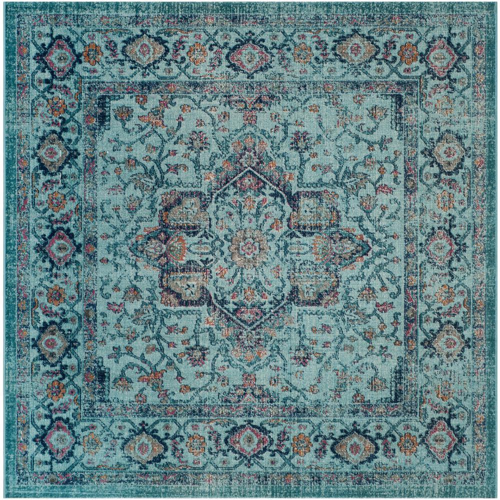 Artisan Light Blue 7 ft. x 7 ft. Square Area Rug