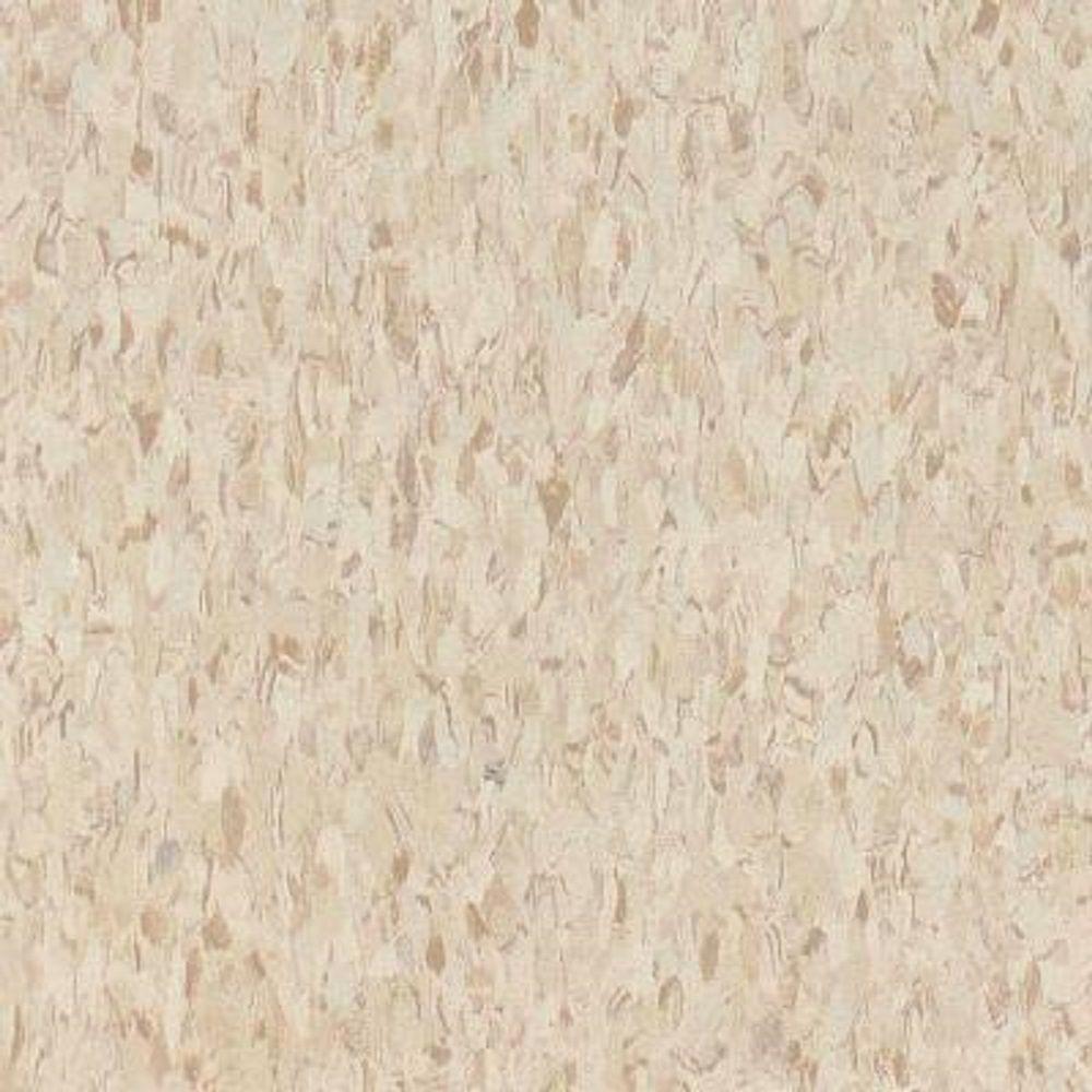 Take Home Sample - Standard Excelon Imperial Texture VCT Sandrift White Standard Excelon Vinyl Tile - 6 in. x 6 in.